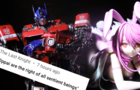 Optimus Prime reads comments