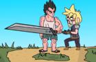 Final Fantasy 7 parody strife struggles