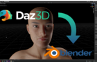 How to export models from Daz to Blender