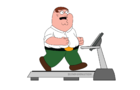 Peter Griffin On A Treadmill